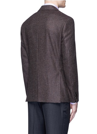 Back View - Click To Enlarge - Canali - 'Kei' wool-cashmere tweed soft blazer