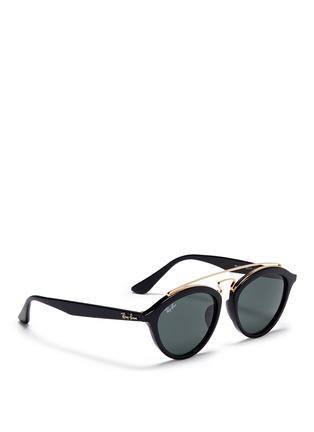 Figure View - Click To Enlarge - Ray-Ban - 'RB4257' metal browline bridge acetate phantos sunglasses