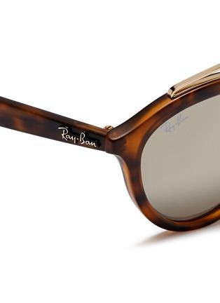 Detail View - Click To Enlarge - RAY-BAN - 'RB4257' metal browline bridge tortoiseshell acetate phantos sunglasses
