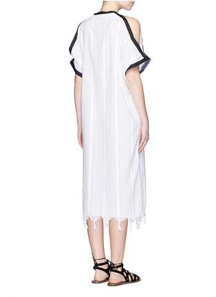 Back View - Click To Enlarge - Koza - 'Tauba' shoulder cutout tassel cover-up dress