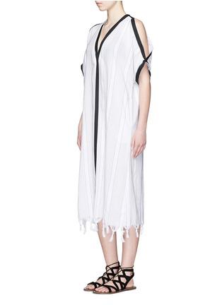 Figure View - Click To Enlarge - Koza - 'Tauba' shoulder cutout tassel cover-up dress