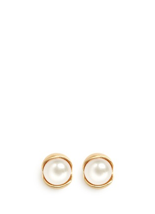 Main View - Click To Enlarge - Belinda Chang - 'Fruity' 18k yellow gold plated freshwater pearl stud earrings