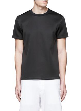 Main View - Click To Enlarge - Theory - 'Kaj' scuba jersey T-shirt