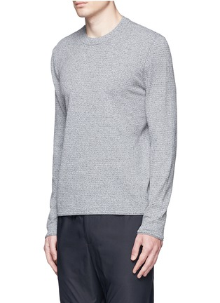 Front View - Click To Enlarge - Theory - 'Gallard S' marled knit sweater