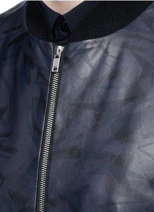 Detail View - Click To Enlarge - Theory - 'Brant L' shatter print leather bomber jacket