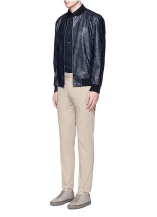 Figure View - Click To Enlarge - Theory - 'Brant L' shatter print leather bomber jacket