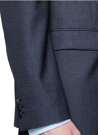 Detail View - Click To Enlarge - Theory - 'Rodolf' wool-silk nailhead blazer