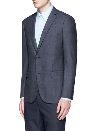 Front View - Click To Enlarge - Theory - 'Rodolf' wool-silk nailhead blazer
