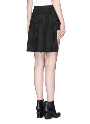 - Dkny - Pinstripe inverted pleat skirt belt
