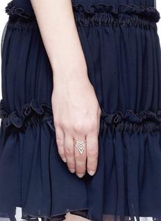 Messika 'Queen V Full Pavé' diamond 18k rose gold ring
