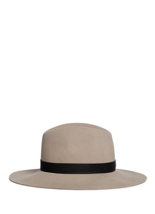 Figure View - Click To Enlarge - Janessa Leone - 'Lotus' leather band wool felt hat
