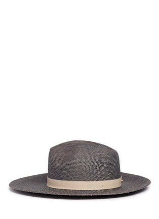 Figure View - Click To Enlarge - Janessa Leone - 'Dahlia' leather band straw Panama hat