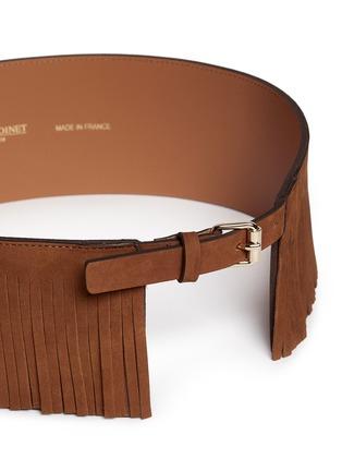 Detail View - Click To Enlarge - Maison Boinet - Fringe suede corset belt