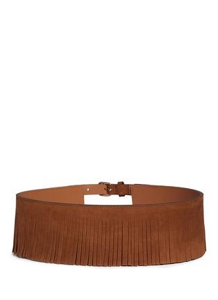 Back View - Click To Enlarge - Maison Boinet - Fringe suede corset belt