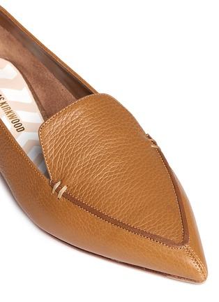 Detail View - Click To Enlarge - Nicholas Kirkwood - 'Beya Bottalato' metal heel leather skimmer loafers
