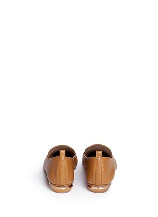 Back View - Click To Enlarge - Nicholas Kirkwood - 'Beya Bottalato' metal heel leather skimmer loafers
