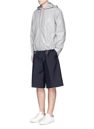 Figure View - Click To Enlarge - MCQ SWALLOW - Leather zip hoodie