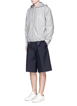 Figure View - Click To Enlarge - McQ Alexander McQueen - Leather zip hoodie