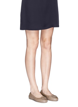 Figure View - Click To Enlarge - Tory Burch - 'Minnie Travel' leather ballet flats