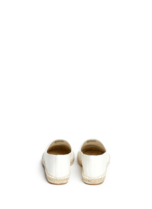 Back View - Click To Enlarge - Tory Burch - Colourblock leather espadrille slip-ons