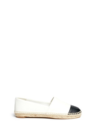 Main View - Click To Enlarge - Tory Burch - Colourblock leather espadrille slip-ons