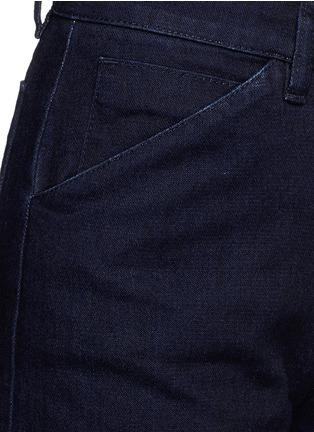 Detail View - Click To Enlarge - VICTORIA, VICTORIA BECKHAM - Wide leg broken twill jeans