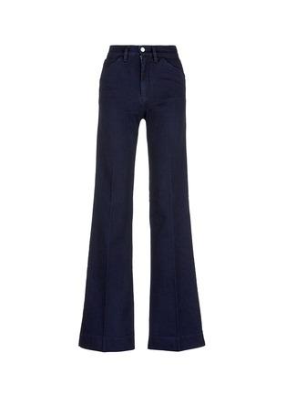 Main View - Click To Enlarge - VICTORIA, VICTORIA BECKHAM - Wide leg broken twill jeans