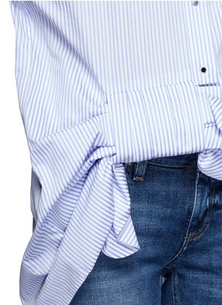 Detail View - Click To Enlarge - VICTORIA, VICTORIA BECKHAM - Asymmetric bow candy stripe shirt