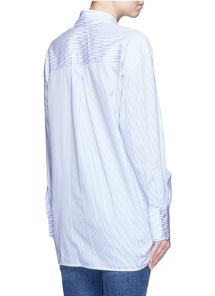 Back View - Click To Enlarge - VICTORIA, VICTORIA BECKHAM - Asymmetric bow candy stripe shirt