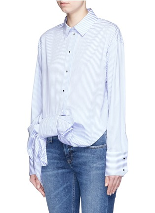 Front View - Click To Enlarge - VICTORIA, VICTORIA BECKHAM - Asymmetric bow candy stripe shirt