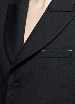Detail View - Click To Enlarge - Ellery - 'Majesty' ruffle sleeve Oxford weave jacket
