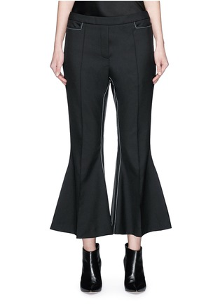 Main View - Click To Enlarge - Ellery - 'Mazur' inseam stitch kick flare pants