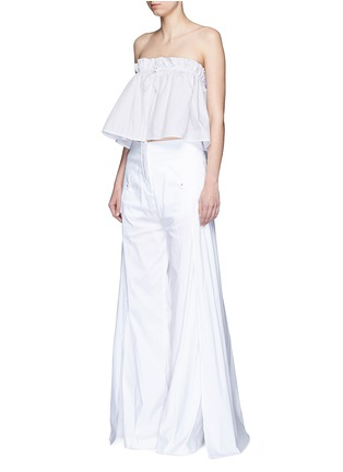 Figure View - Click To Enlarge - Ellery - 'Hot Wax' pinstripe cropped bandeau top