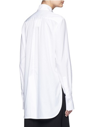 Back View - Click To Enlarge - Ellery - 'Expelled' ruffle front cotton shirt