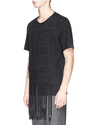 Front View - Click To Enlarge - Lanvin - Braid front virgin wool blend top