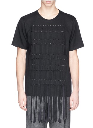 Main View - Click To Enlarge - Lanvin - Braid front virgin wool blend top