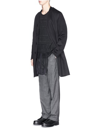 Figure View - Click To Enlarge - Lanvin - Braid front virgin wool blend top