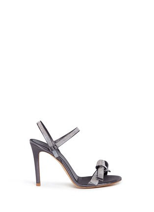 Main View - Click To Enlarge - PEDRO GARCÍA - 'Candice' crystal pavé bow satin sandals