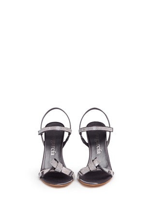 Figure View - Click To Enlarge - PEDRO GARCÍA - 'Candice' crystal pavé bow satin sandals