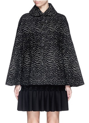 Main View - Click To Enlarge - Alaïa - 'Asteroide' velour knit cape