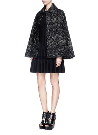 Figure View - Click To Enlarge - Alaïa - 'Asteroide' velour knit cape
