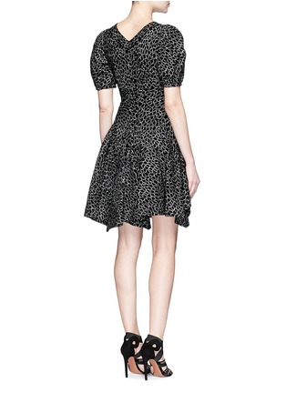 Back View - Click To Enlarge - Alaïa - 'Asteroide' abstract pattern flare dress