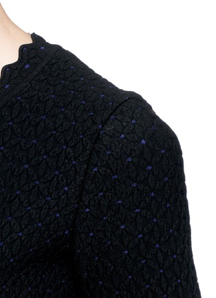Detail View - Click To Enlarge - Alaïa - Puffed knit dress