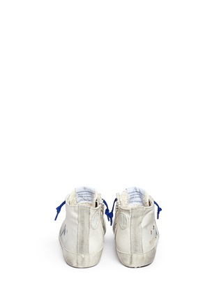 Back View - Click To Enlarge - Bonpoint - x Golden Goose 'Tennis' suede trim canvas kids sneakers