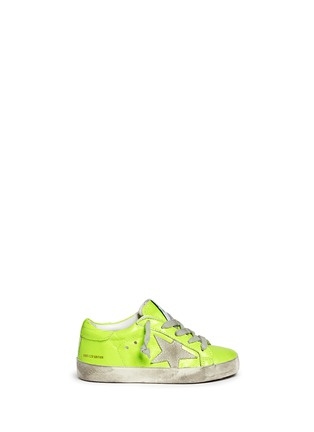 Main View - Click To Enlarge - Bonpoint - x Golden Goose 'Tennis' neon leather toddler sneakers