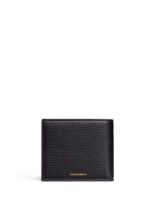 Back View - Click To Enlarge - Dolce & Gabbana - Designer appliqué leather bifold wallet