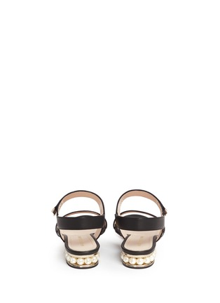 Back View - Click To Enlarge - Nicholas Kirkwood - Faux pearl heel leather slingback sandals