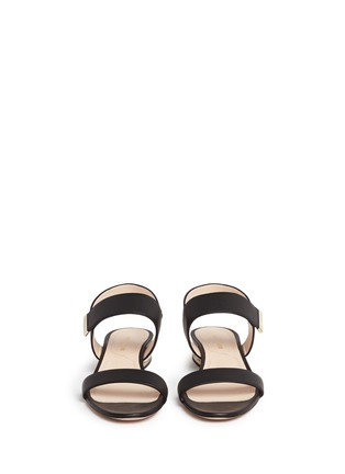 Front View - Click To Enlarge - Nicholas Kirkwood - Faux pearl heel leather slingback sandals