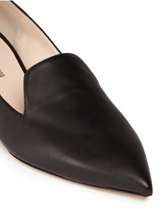 Detail View - Click To Enlarge - Nicholas Kirkwood - 'Casati' faux pearl heel leather skimmer loafers
