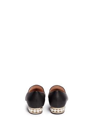 Back View - Click To Enlarge - Nicholas Kirkwood - 'Casati' faux pearl heel leather skimmer loafers